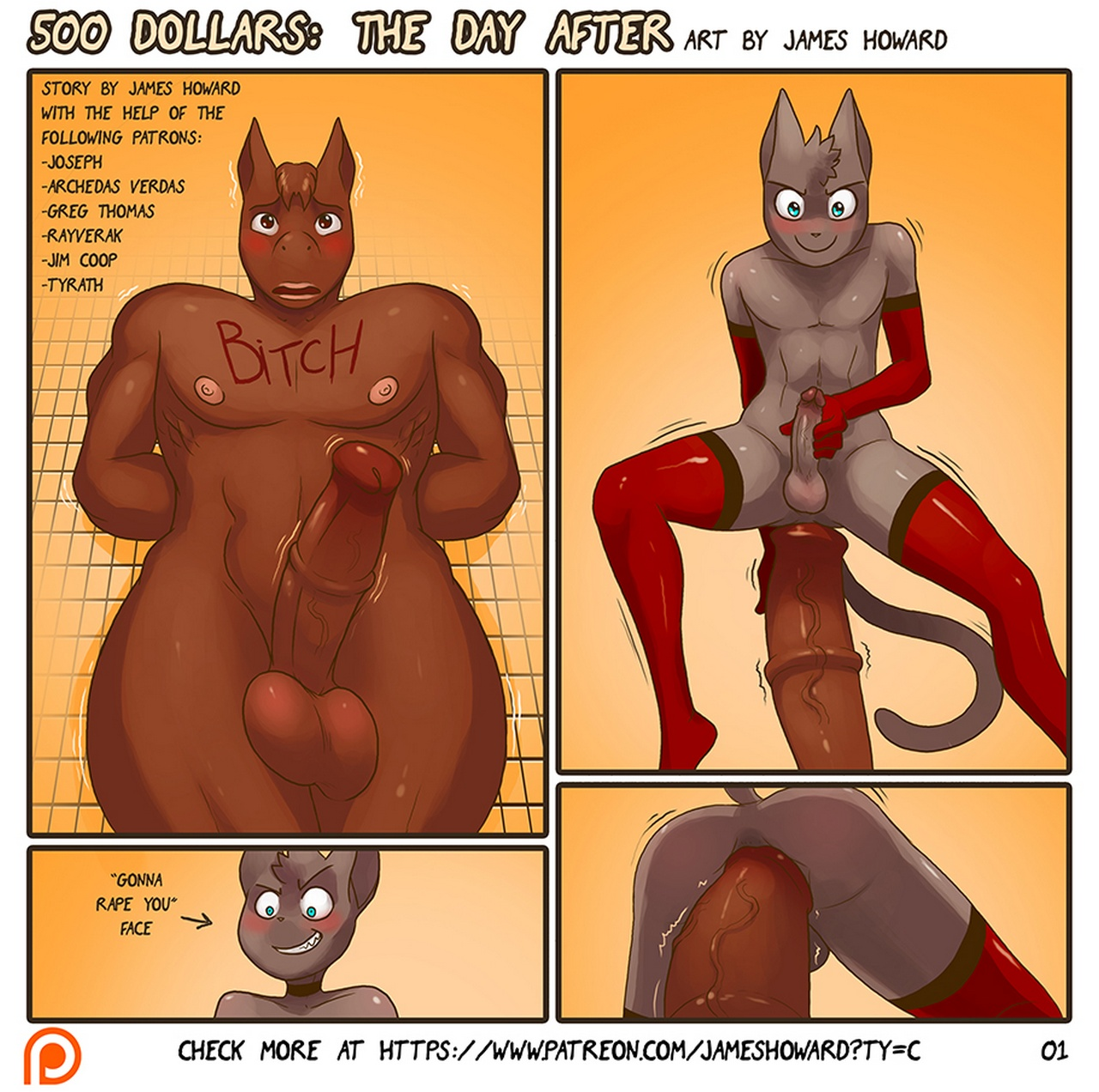 500 Dollars 2 – The Day After gay furry comic