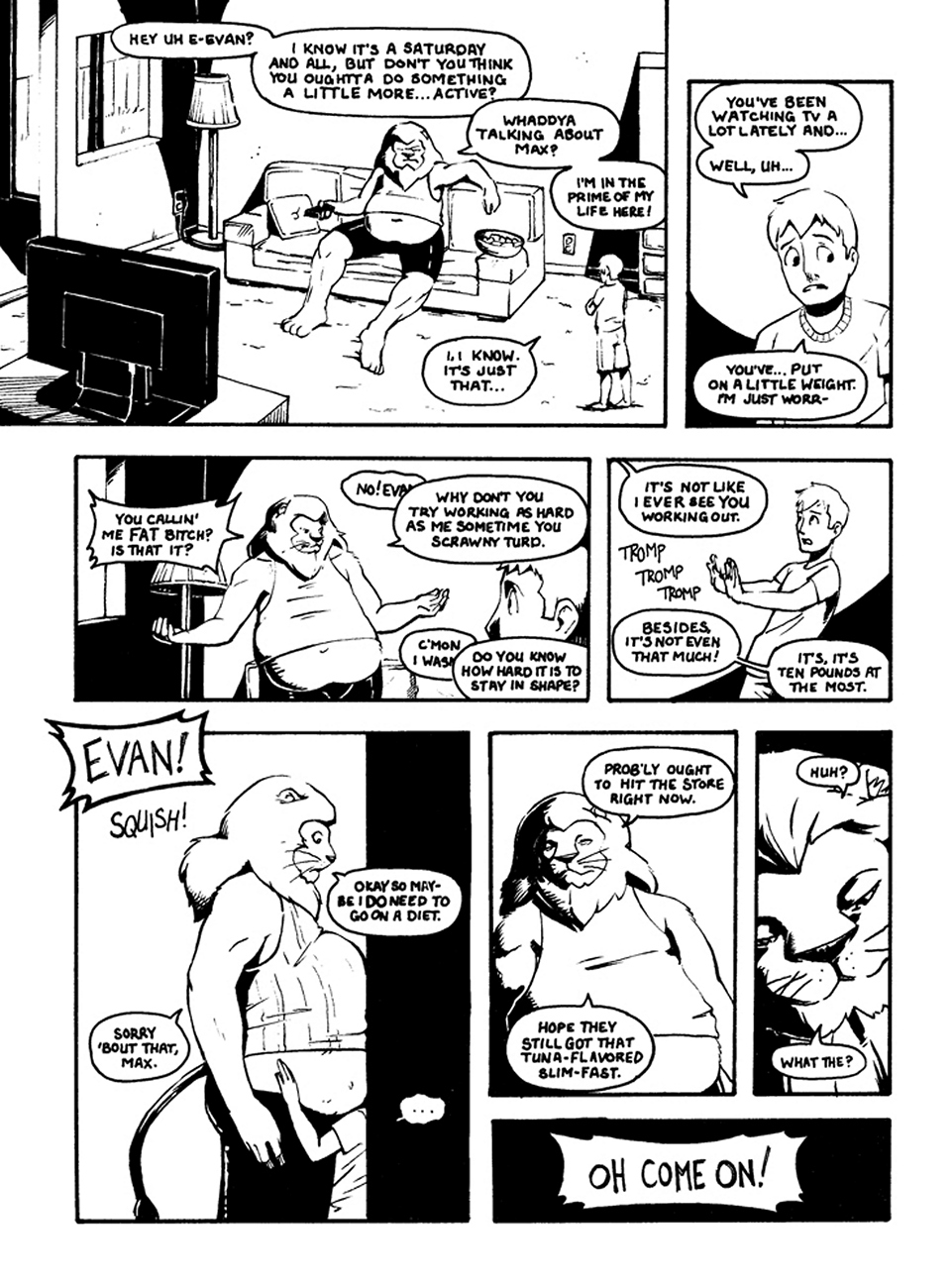 A Day In The Life Scene 1 (Original) gay furry comic