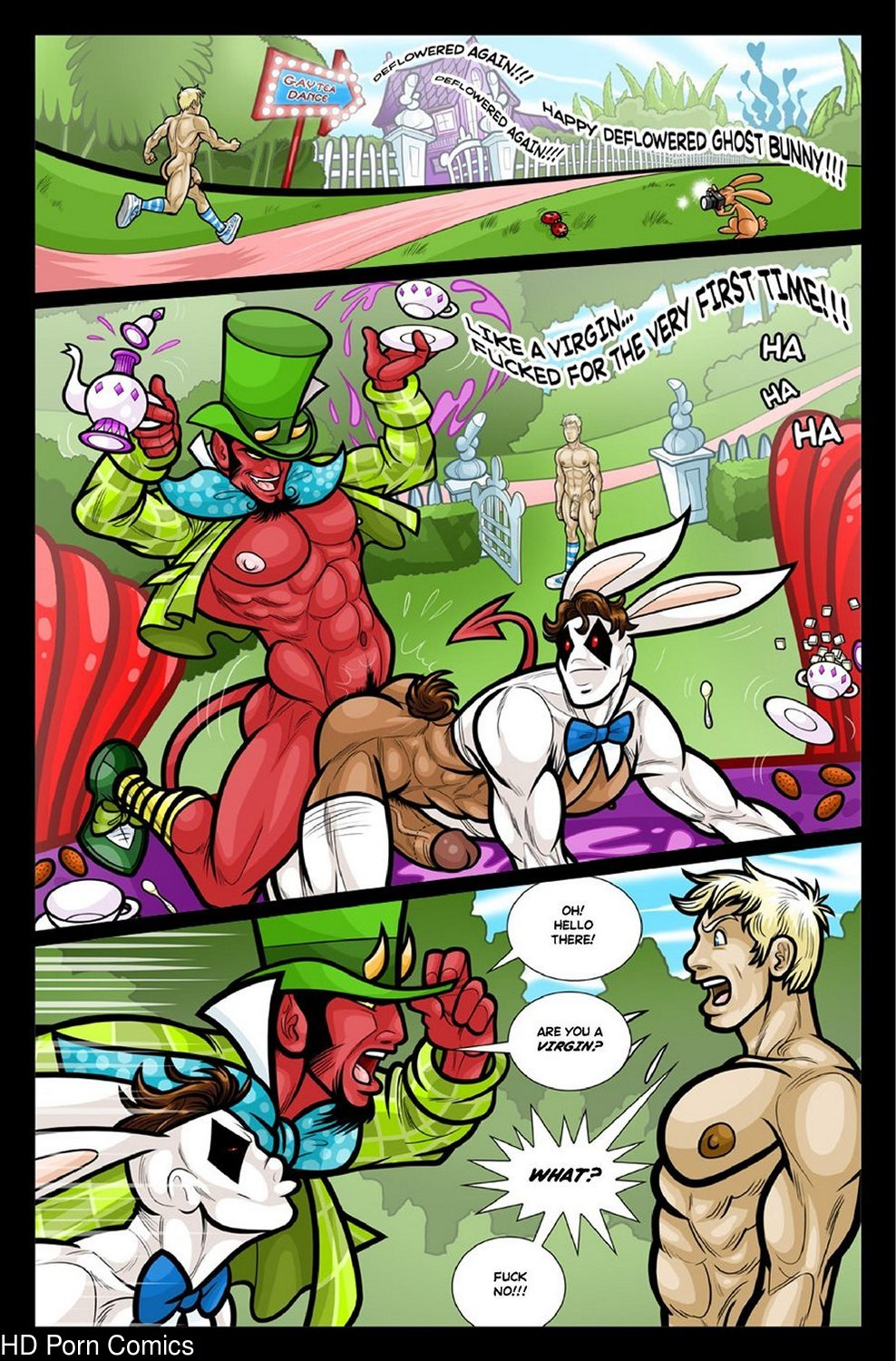 Alex In Bonerland gay furry comic