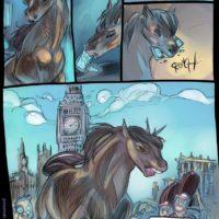 American Werehorse gay furry comic