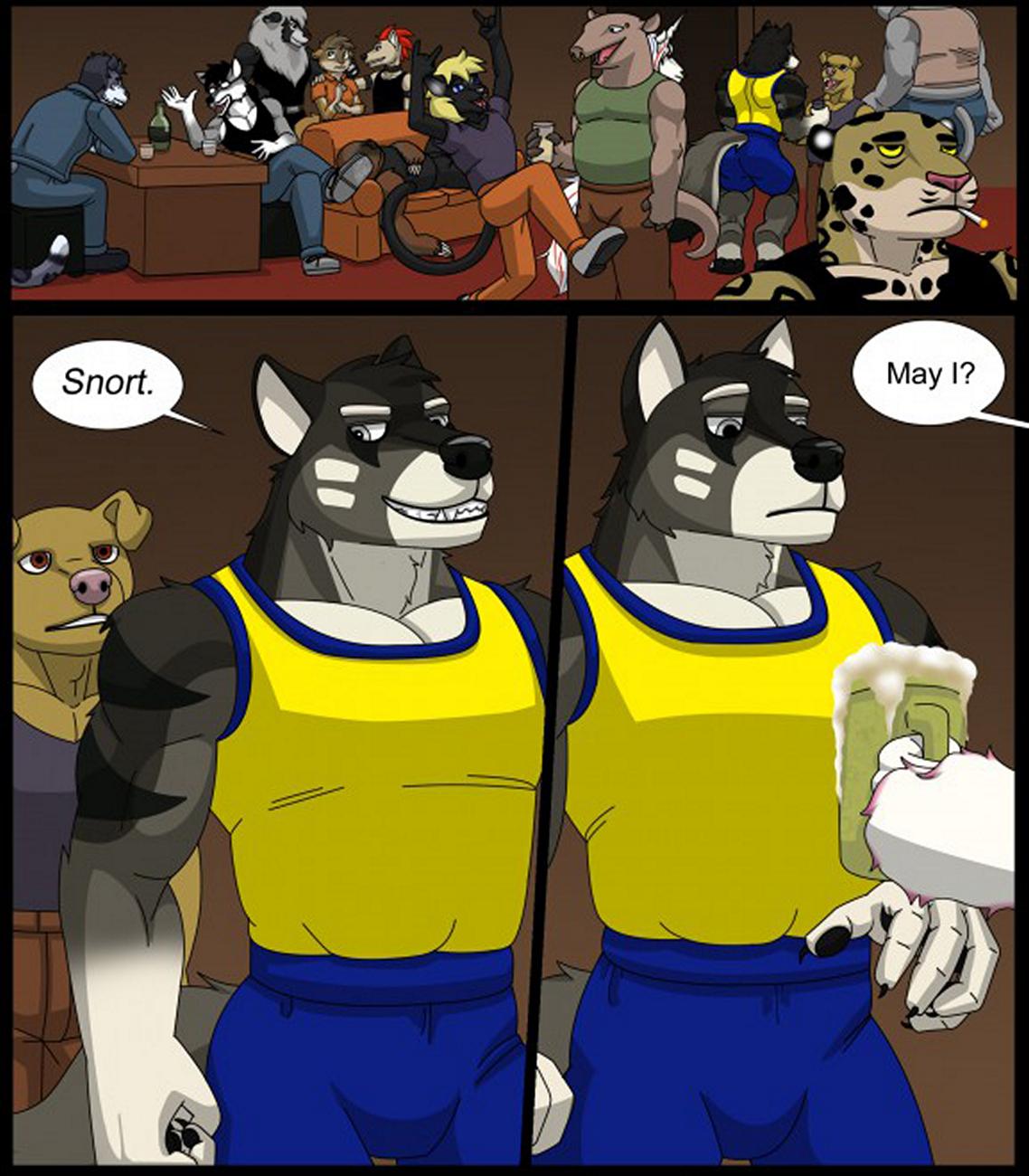 Bad Dog Training gay furry comic