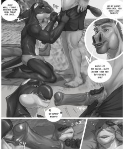 Beach Bull-y 004 and Gay furries comics