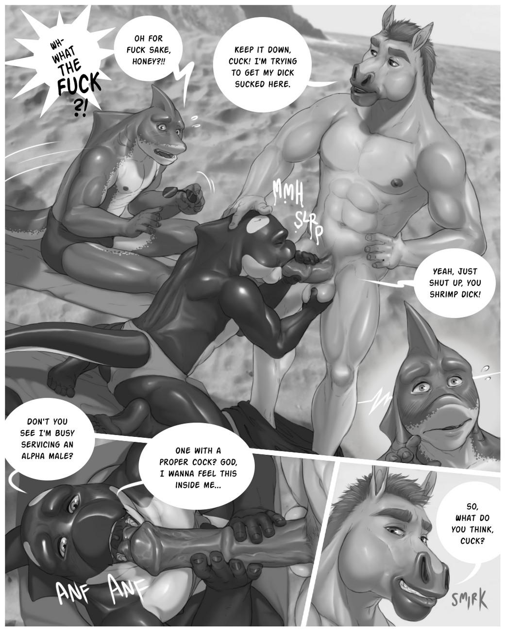 Beach Bull-y gay furry comic