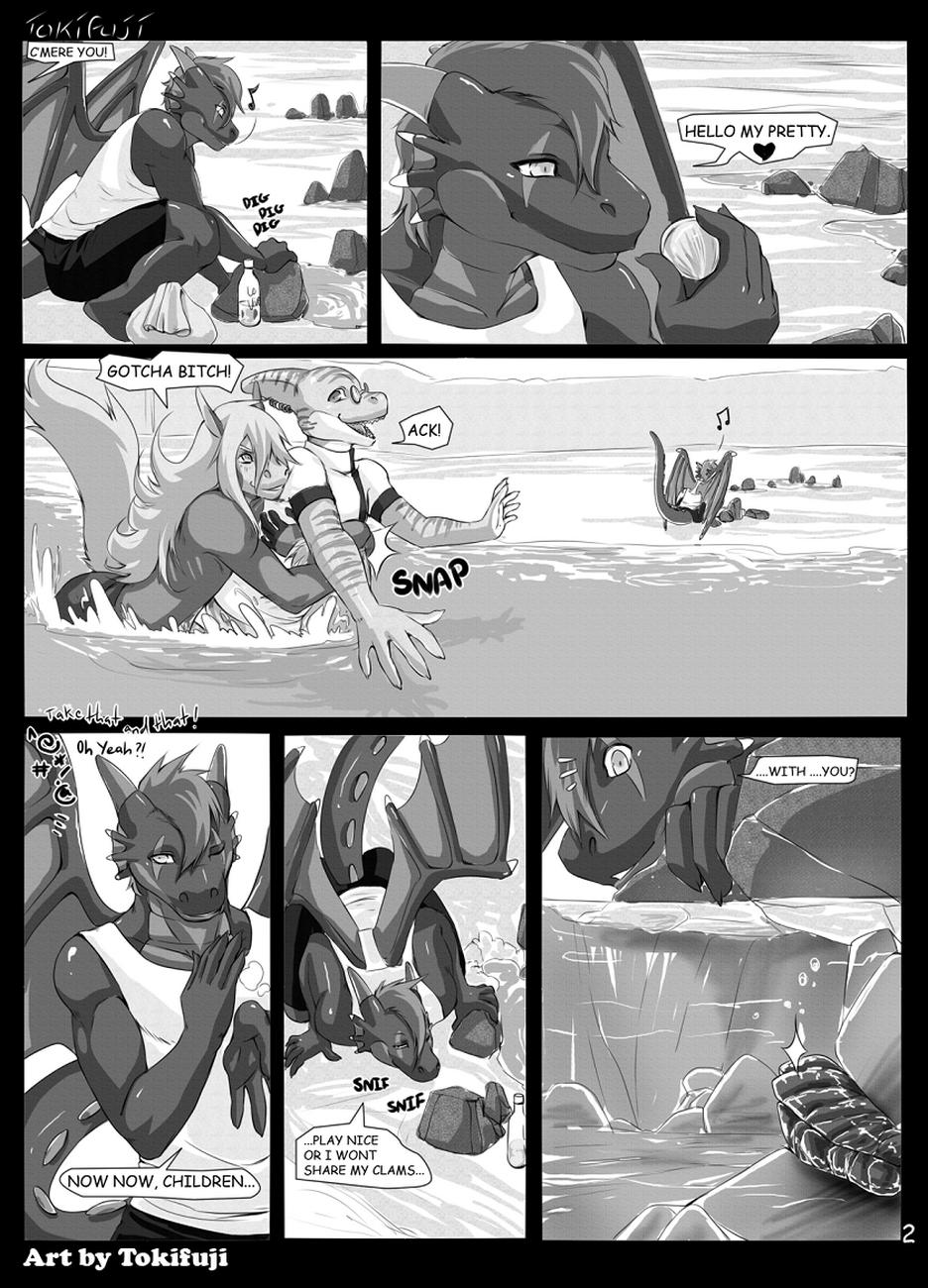 Beach Daze gay furry comic