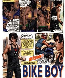 Bike Boy Rides Again 002 and Gay furries comics