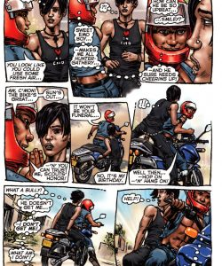 Bike Boy Rides Again 003 and Gay furries comics