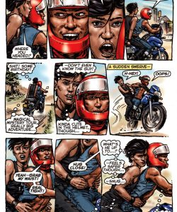 Bike Boy Rides Again 004 and Gay furries comics