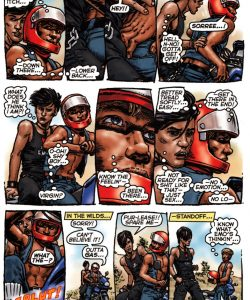 Bike Boy Rides Again 005 and Gay furries comics