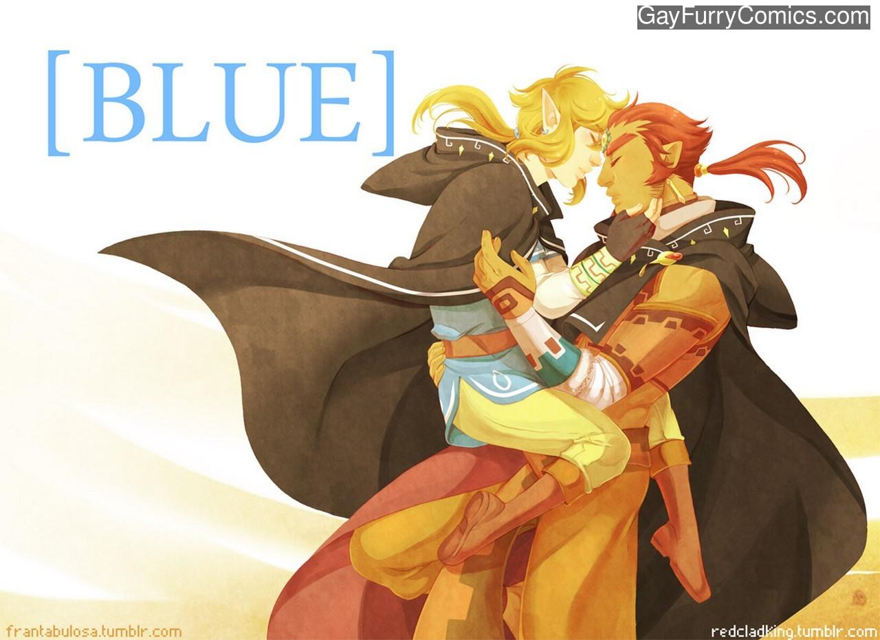 Blue gay furry comic