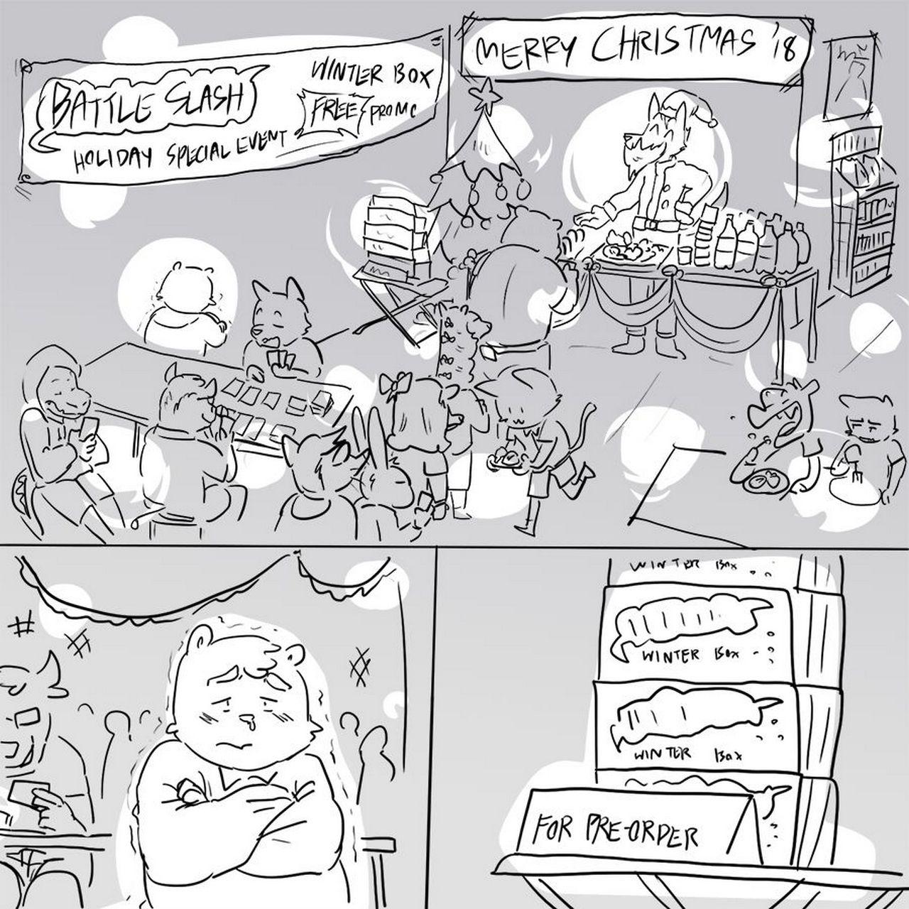 Booster Bear Winter Box gay furry comic