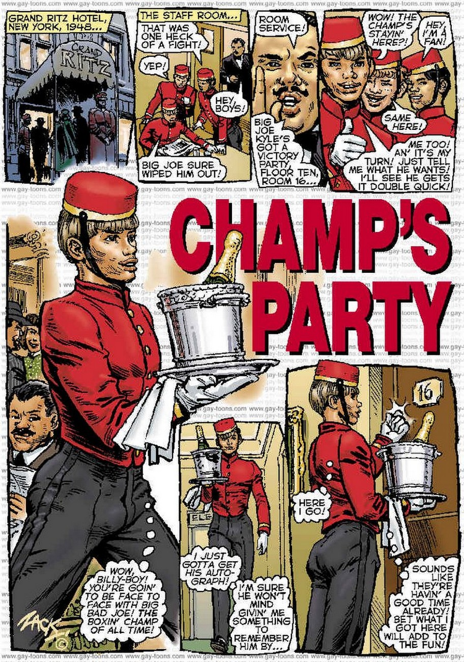 Champ's Party gay furry comic