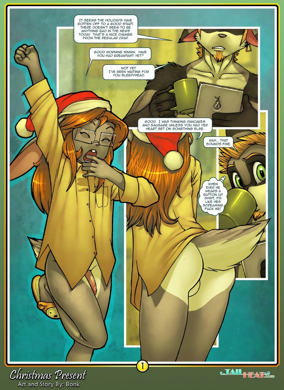 Christmas Present gay furry comic
