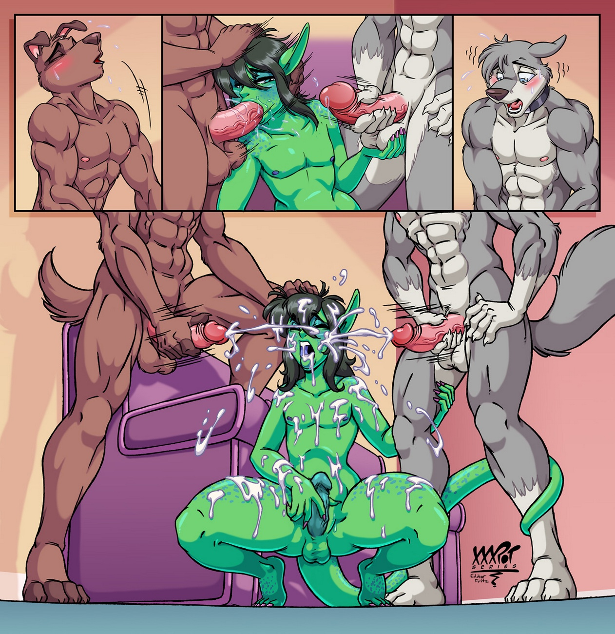 Dog Day Afternoon (Gay) gay furry comic
