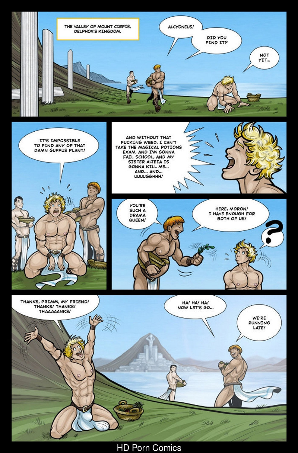 Exodus 1 – Euribatos The Tenebrous gay furry comic