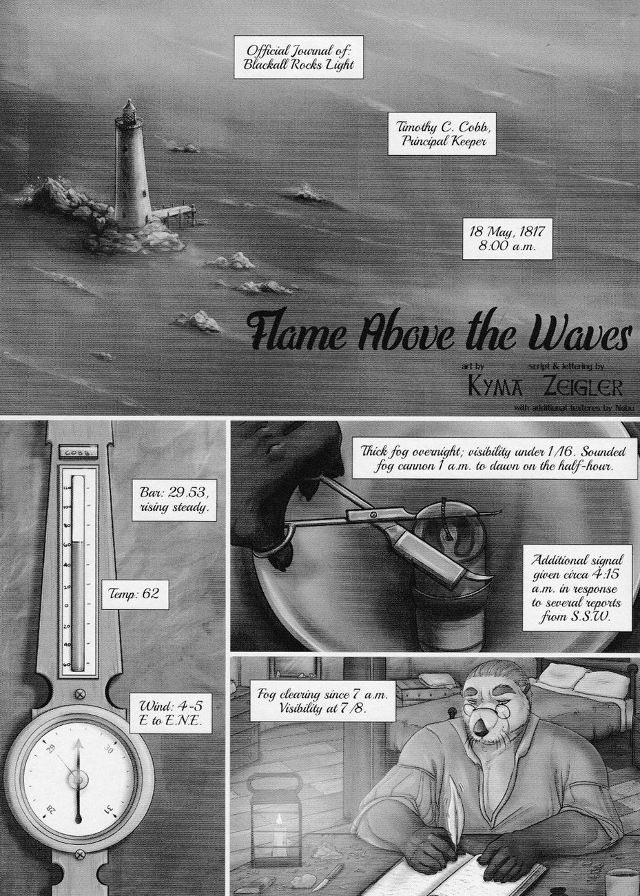 Flame Above The Waves gay furry comic