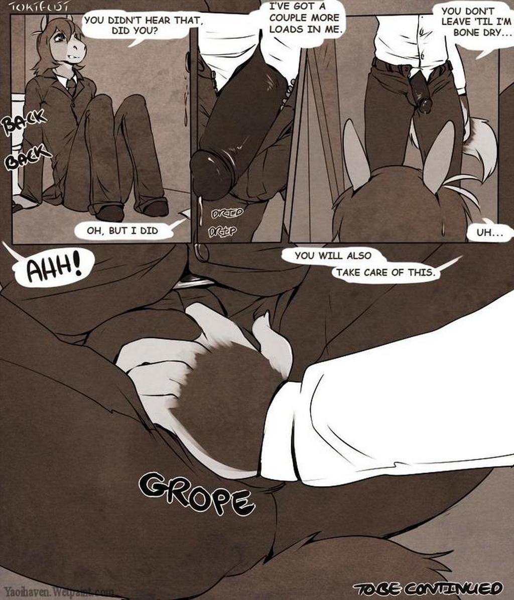 Going Down In Glory 1 gay furry comic