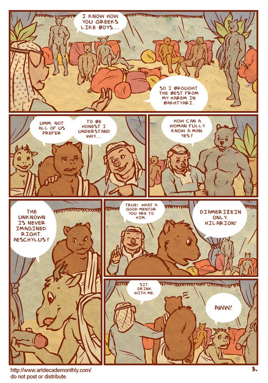 He Who Tells His Secret gay furry comic