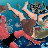 Keep It Clean! gay furry comic