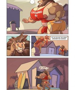 Meatier Showers - Baewatch 003 and Gay furries comics