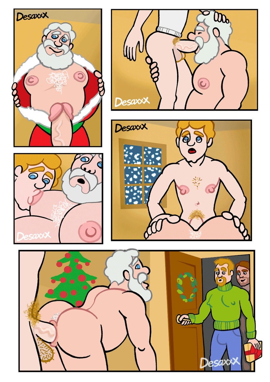 Merry Christmas 1 gay furry comic