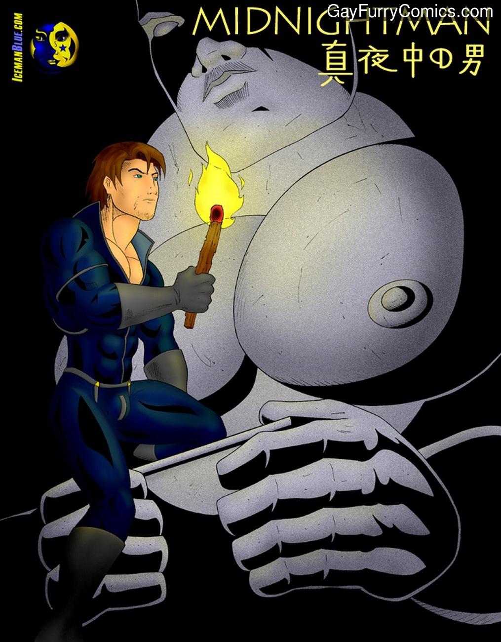 Midnightman 3 gay furry comic
