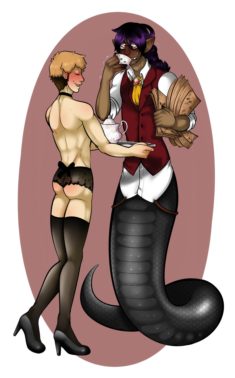My Master Is A Naga 2 gay furry comic