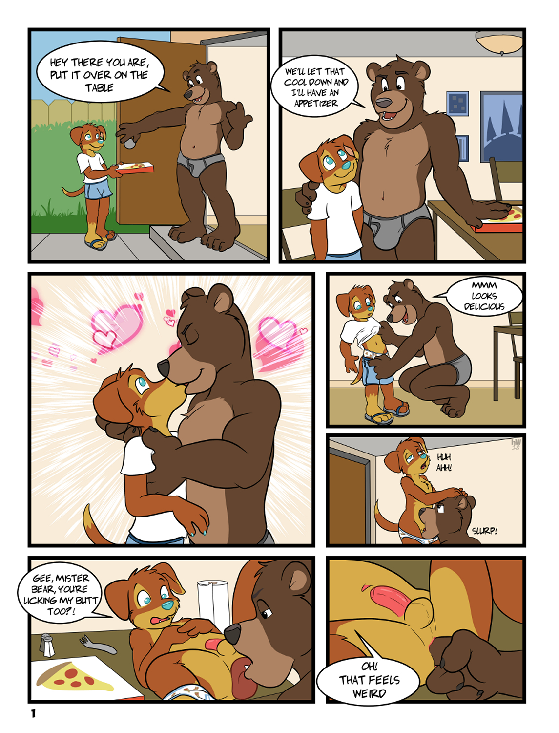 Puppy Delivers The Goods gay furry comic