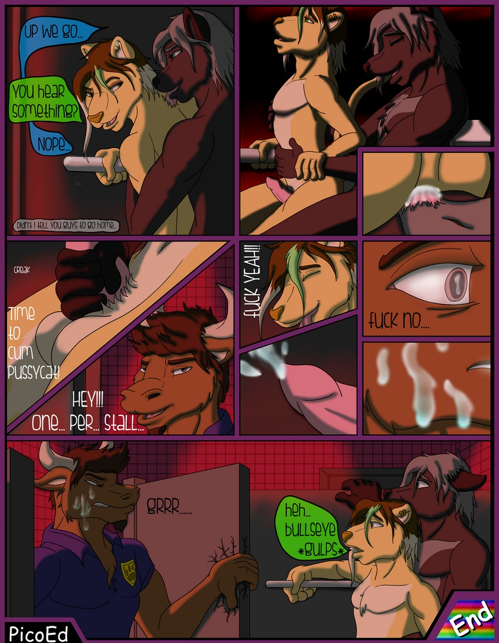 Rhythm Of The Night gay furry comic