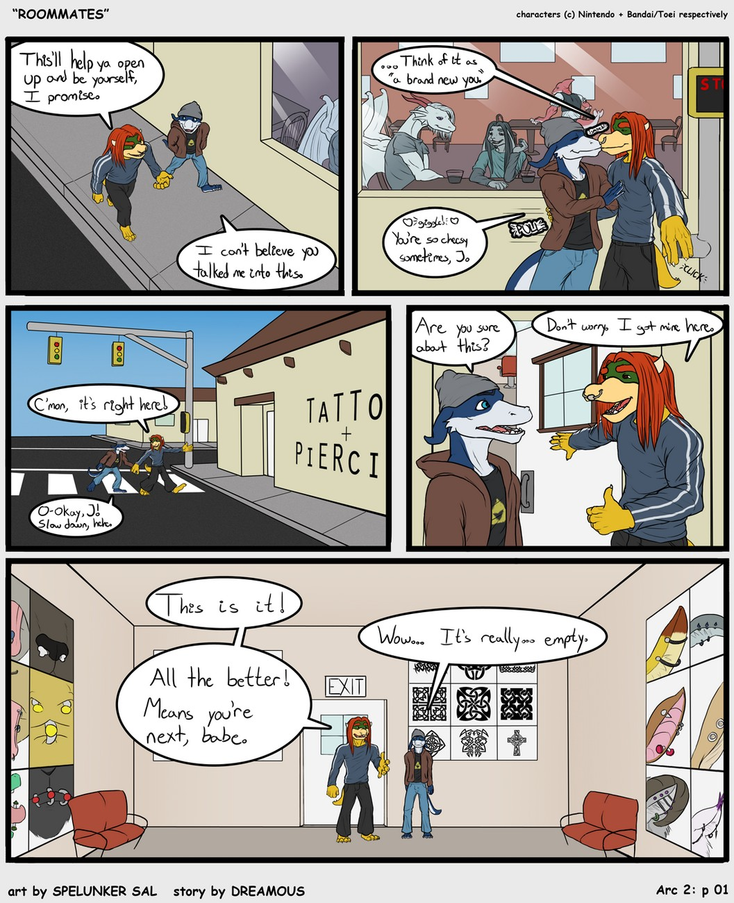 Roommates 2 gay furry comic