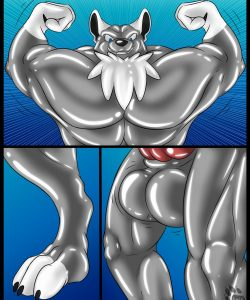 Rubber Muscles 010 and Gay furries comics