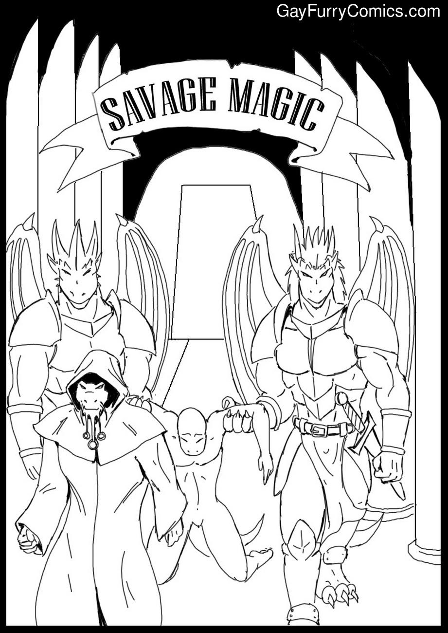 Savage Magic gay furry comic