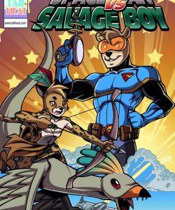Space Man vs Savage Boy 001 Gay Furry Comics