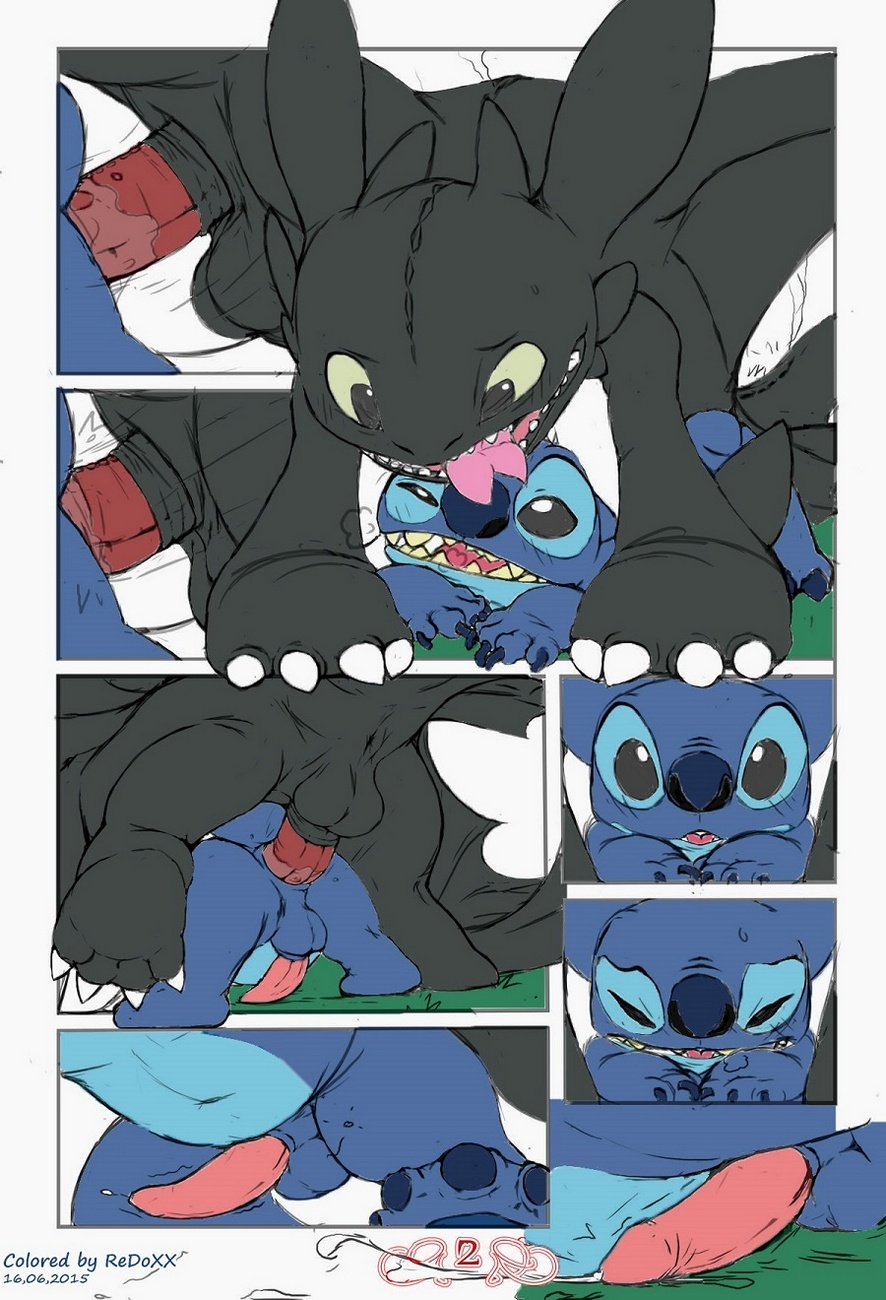 Stitch vs Toothless gay furries