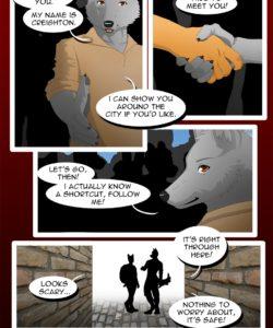 The Copulatory Tie 1 - Shaken 005 and Gay furries comics