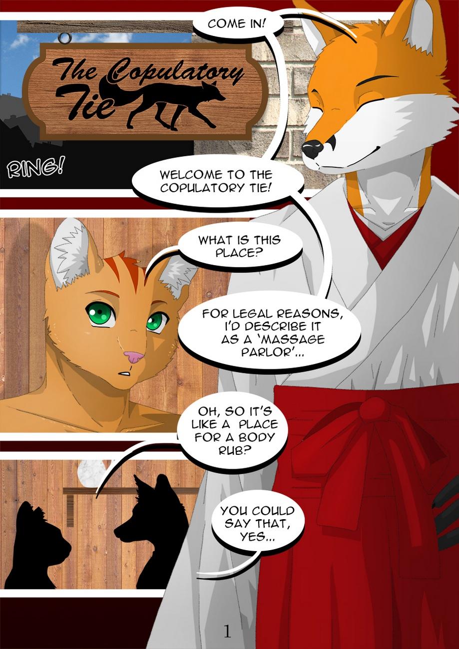 The Copulatory Tie 2 – Breaking In gay furry comic