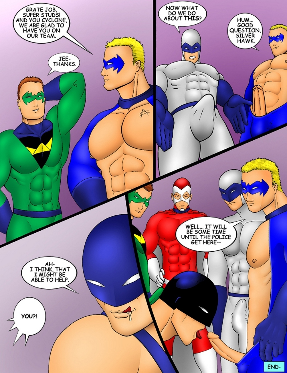 The Super Studs 2 gay furry comic