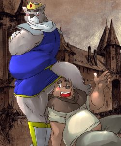 The king And The Peasant gay furry comic