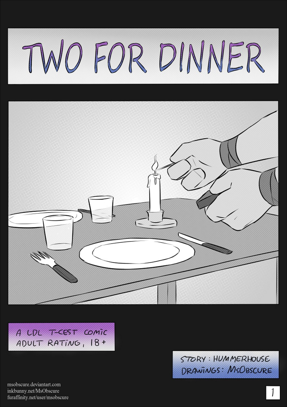 Two For Dinner gay furry comic