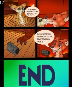 Two Foxes One Bun 017 and Gay furries comics