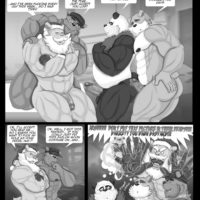 World Is Made By Bears - Late XXX-Mas gay furry comic