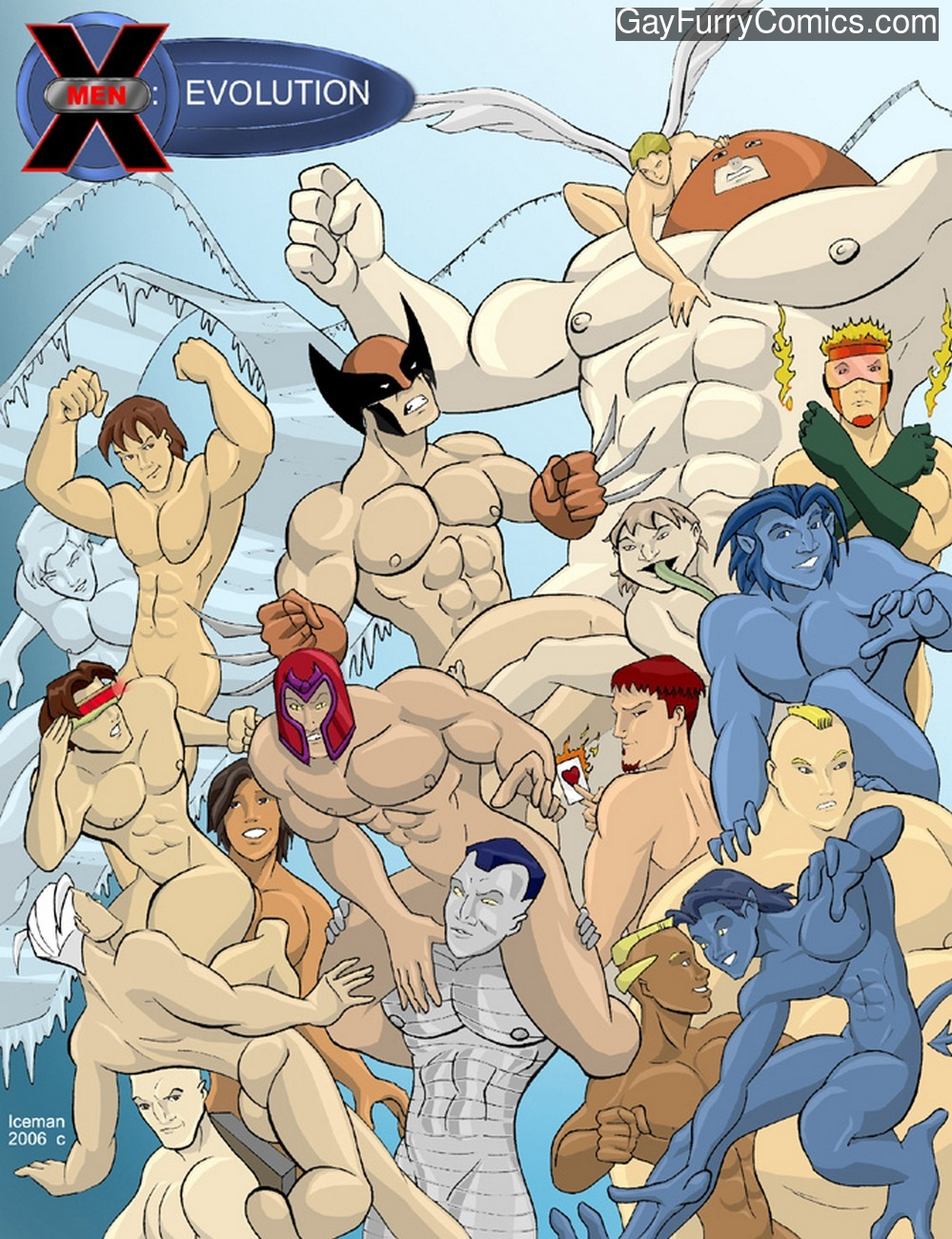 X-Men Evoloution gay furry comic