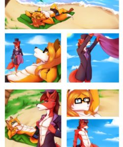 A Foxy Day At The Beach 001 and Gay furries comics