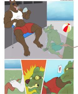 Ambush On The Pool gay furry comic