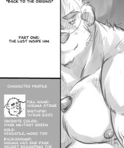Back To The Origins 1 – The Lust Inside Him gay furry comic
