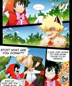 BakuDeku gay furry comic
