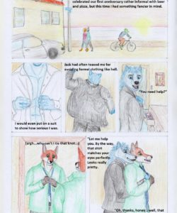Candlelight Dinner gay furry comic