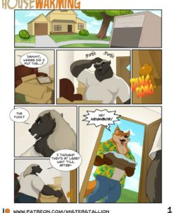 Housewarming 001 and Gay furries comics
