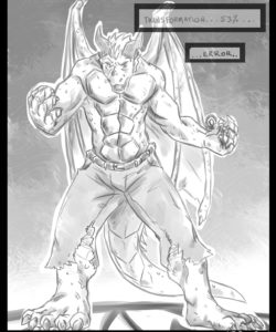 Red Dragon Transformation 003 and Gay furries comics