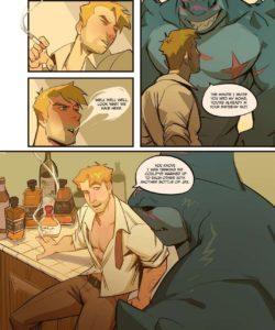 Spellbound – A John Constantine x King Shark Fan Comic gay furry comic