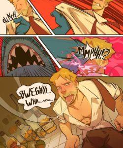Spellbound - A John Constantine x King Shark Fan Comic 006 and Gay furries comics